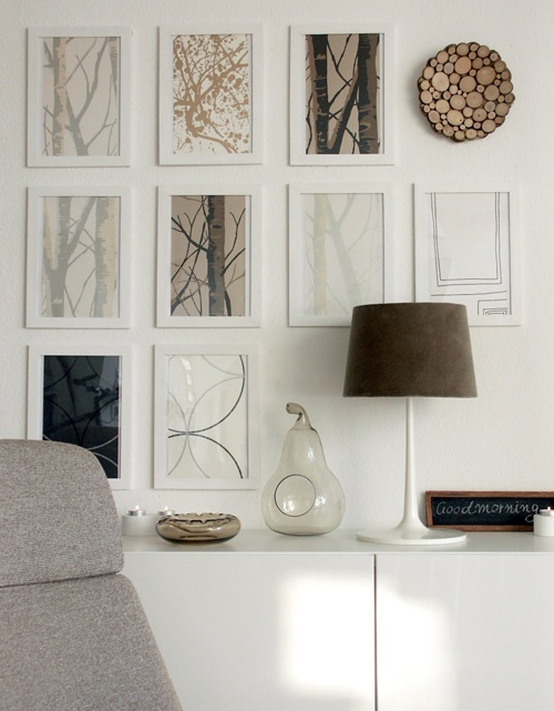 Modern Rustic Gallery Wall Tree Branch Decor