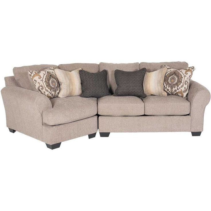 Best Pantomine 2 Piece Sectional With Laf Cuddler Leather 640 x 480
