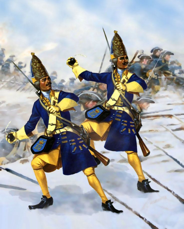 Swedish grenadiers during the Great Northern War