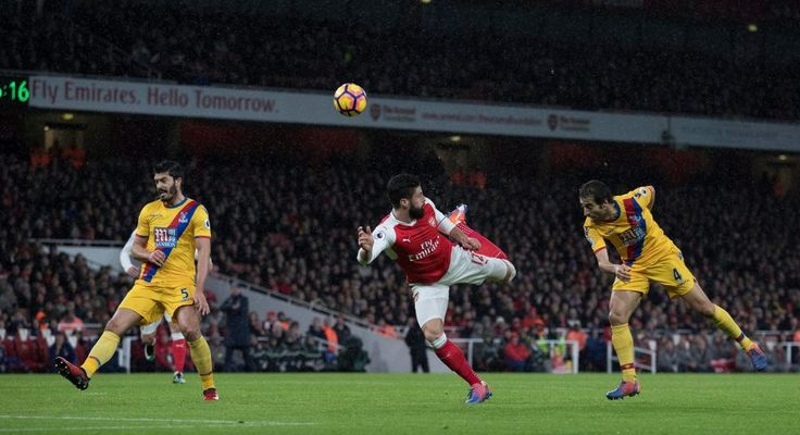 Arsenal 2 Crystal Palace 0: Watch highlights Olivier Giroud scores incredible scorpion kick before Alex Iwobi seals impressive win for Gunners