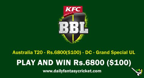 https://goo.gl/hu2oYQ #DFC #FantasyCricket #BBL #GrandLeague #DailyChange #Tournament #ExcitingTime #PlayNow #WINGrandPrizes #PlayMore #WINMore