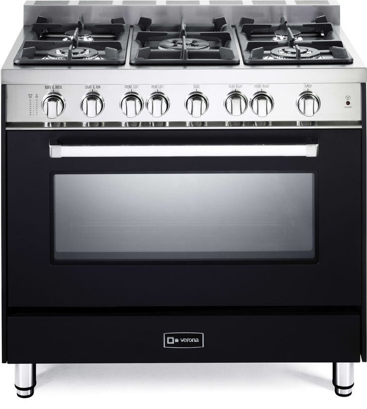 verona vefsgg365ne 36 inch prostyle gas range with 5 sealed burners btu cooktop 40 cu ft convection fan infrared broiler