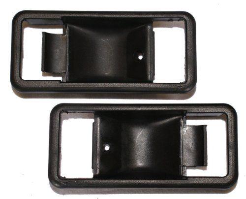 LatchWell PRO-4000855 Interior Door Handle Bezel Pair in Black for Toyota FJ40 Land Cruiser