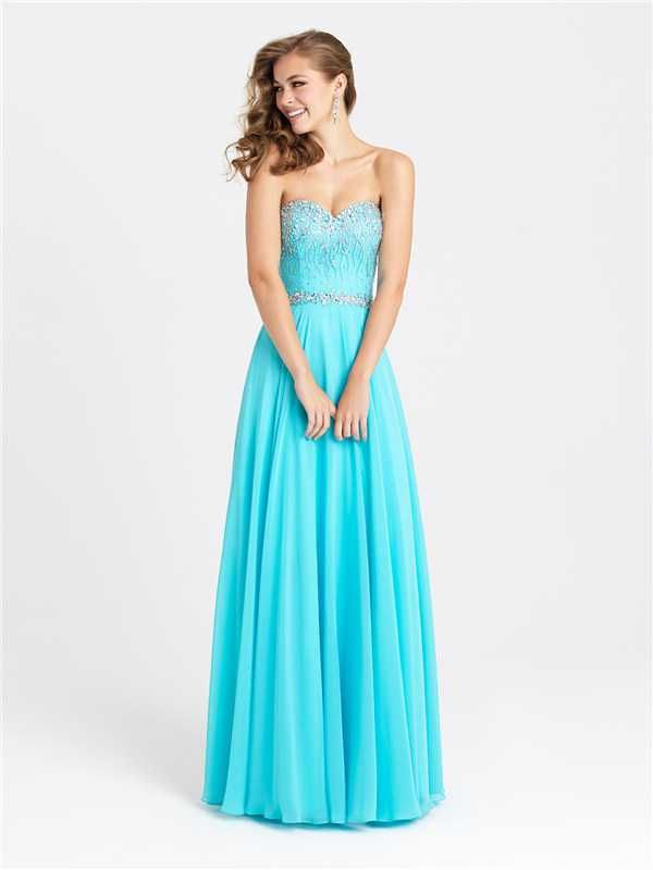 Dazzling Beaded Long Prom Dresses by Madison James 16-379 Discount