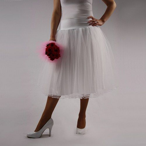 Bílá labuť - Svatební tylová sukně