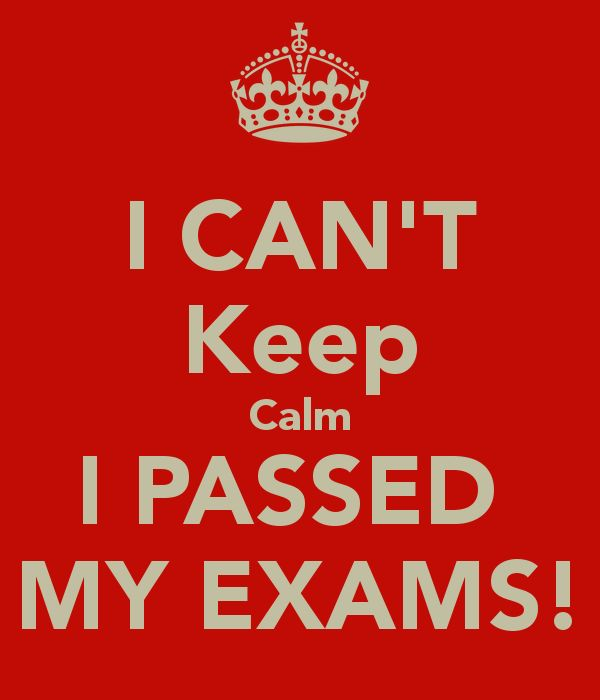 I passed my exams! I am now going to graduate college. I still can not believe it. I hope this will open many career doors for me.