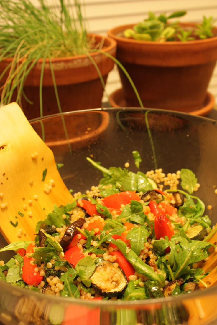 James' quinoa and roast veggie salad, Oakland CA, July 2010.