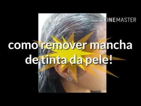 Como remover tinta de cabelo da pele! - YouTube