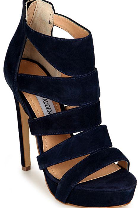 #stiletto #suede #party #heels #shoes #evening #black via @Roposo
