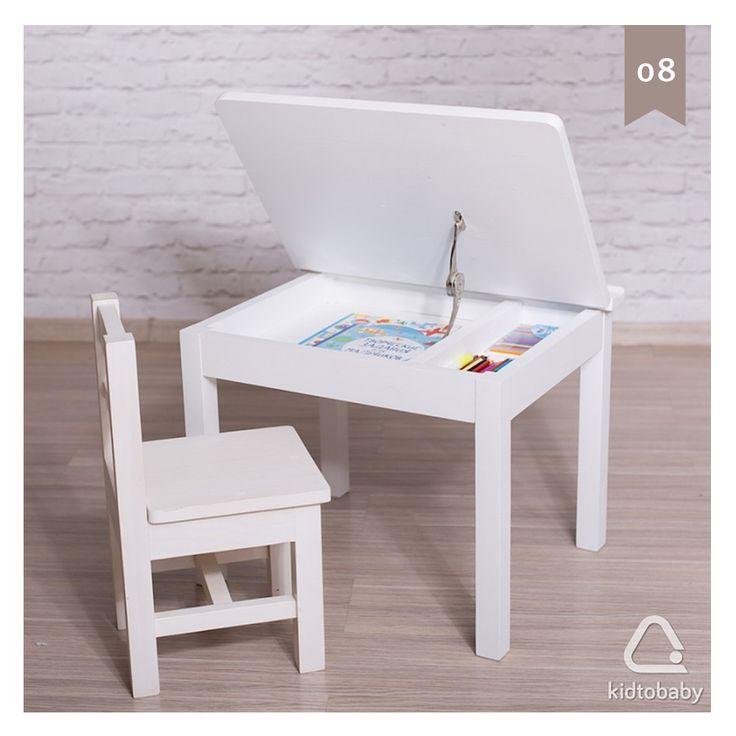Хотим вам рассказать о чудесном проекте из Ижевска, который занимается изготовлением красивой и функциональной мебели для детей  на картинке детский стол с отделением для хранения и стул. Мебель изготовлена из массива сосны - приятного и экологичного материала. С витриной проекта вы можете ознакомиться, пройдя по активной ссылке в нашем профиле ☝️ #kidtobaby_адвент #kidtobaby