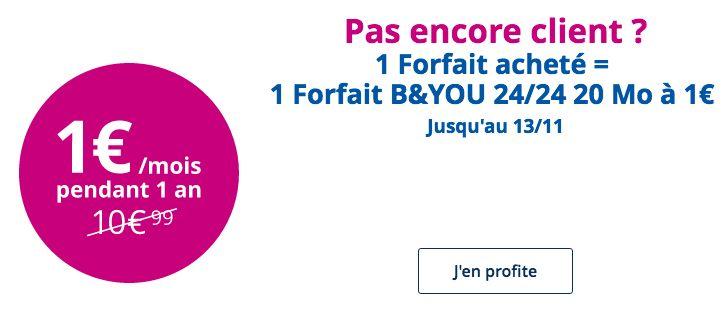 🔥 Bon plan : le forfait B&YOU 20 Mo à 1 euro par mois pour l'achat d'un forfait chez Bouygues Telecom - http://www.frandroid.com/bons-plans/383470_%f0%9f%94%a5-plan-forfait-byou-20-mo-a-1-euro-mois-lachat-dun-forfait-chez-bouygues-telecom  #Bonsplans, #Telecom