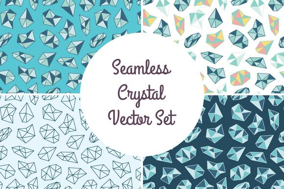 Seamless Crystal Backgrounds by joulenc on Creative Market