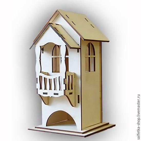 Купить или заказать Чайный домик 'С балконом' в интернет-магазине на Ярмарке Мастеров. Размер домика 24х14,5х13 см. Изготовлен из фанеры толщиной 3 мм. Поставляется в разобранном виде. Рассчитан для хранения чайных пакетиков в индивидуальной упаковке. Имеет 3 окна и балкон. Деревянная заготовка Чайный домик 'С балконом' подходит для декупажа и росписи. Подходит даже для новичков в декупаже. В дополнение к домику для чая, мы рекомендуем приобрести у нас в интернет-магазине салф...