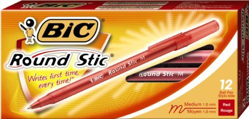 BIC Round Stic Ball Pen -12 Pens (GSM11)
