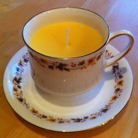 Teacup candle - £5.00 http://www.ebay.com/itm/261313110577?ssPageName=STRK:MESELX:IT&_trksid=p3984.m1555.l2649