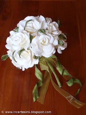 Incartesimi: Bouquet con rose di carta avorio - Segni e partenze