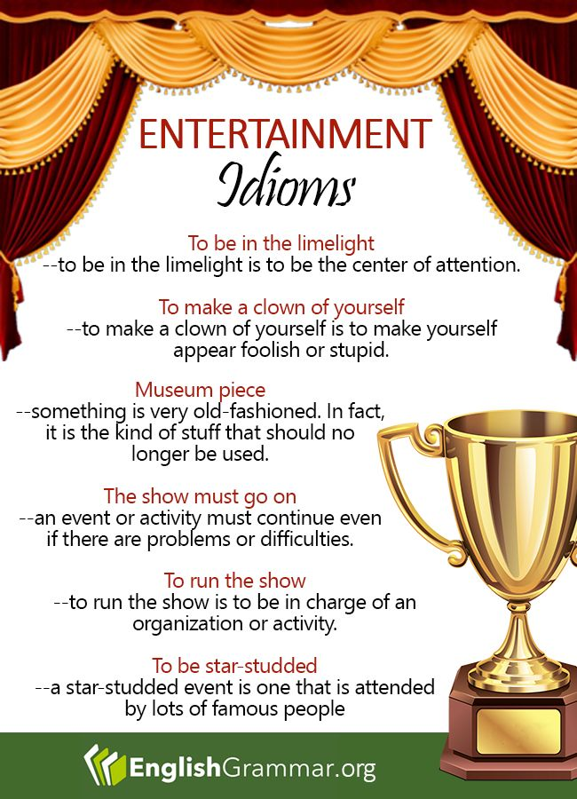 Entertainment Idioms