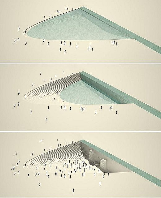 open air theater and rain water collector // conceptual urban design by paisajes emergentes