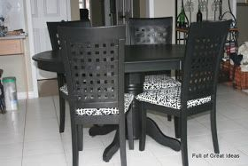Full of Great Ideas: My amazing kitchen table and chair transformation!