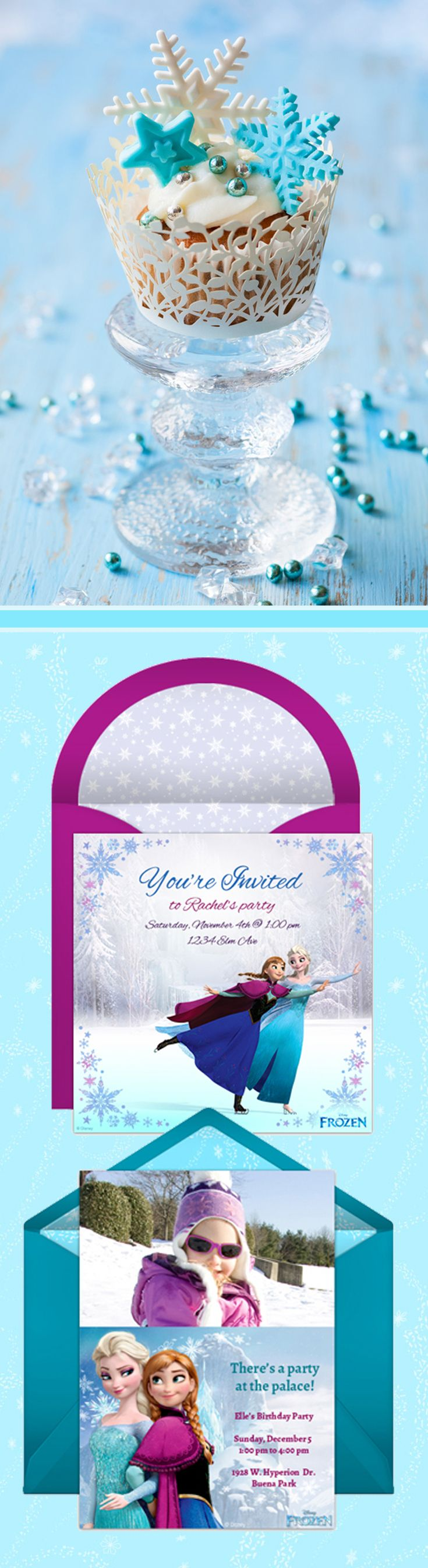 Paper invites are too formal, and emails are too casual. Get it just right with online invitations from Punchbowl. We've got everything you need for your Frozen themed party. http://www.punchbowl.com/disney/groups/frozen/?utm_source=Pinterest&utm_medium=15.2P