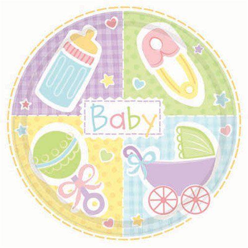 Platos de cartón para baby shower. http://mundobabyshower.cl/platos-baby-nursery