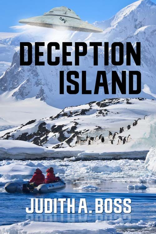 This is the cover of my book Deception Island. It's a fantasy/romance/suspense novel that, naturally, takes place in Deception Island.