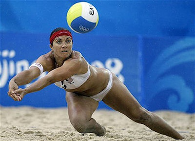 United States - Misty May-Treanor - Beach Volleyball - May-Treanor is a professional volleyball player and is considered the greatest to ever play the sport, man or woman. With 107 career victories, she is far and away the wins leader for the female side of the sport, and along with her teammate Kerri Walsh, Misty has dominated volleyball on every level, from the beach to the indoor arena. She will represent the USA in the Olympics for the third time this summer in London...