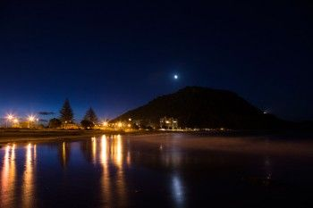 Evening at Mount Maunganui, New Zealand. Print available for purchase from $49