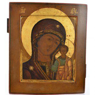 Icona russa antica Madonna Kazan XIX secolo | vendita online su HOLYART