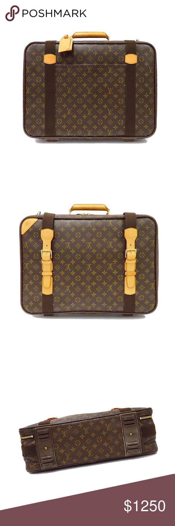 Authentic Vuitton Satellite 53 Luggage/Travel Bag Authentic Louis Vuitton Monogram Satellite 53 Luggage Bag  Includes Shoulder Strap, Padlock, Keys Date Code: MB1002 Made in France  Monogram Canvas, Leather Trim & Handle, Gold-Tone Hardware  *Light use on Exterior. No serious flaws. Louis Vuitton Bags Travel Bags