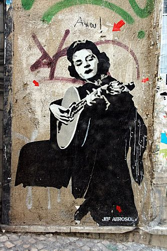Lisbon - Portugal - Amalia Rodrigues  source: http://lemurdoberkampf.over-blog.com/article-le-mur-by-jef-aerosol-46180789.html