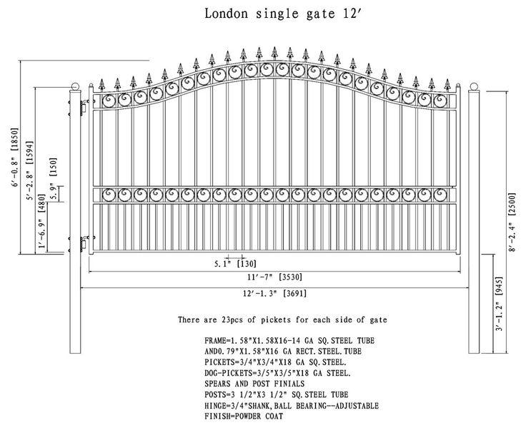 17 best Sliding Driveway Gates images on Pinterest   Driveways, Door ...