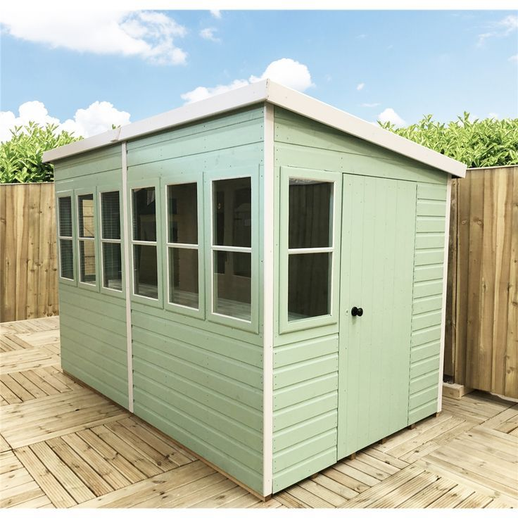 10 X 6 3 04m X 1 79m Tongue And Groove Pent Potting Shed 2 Opening Windows Single Door 12mm Tongue And Groove Flo Shed Cladding Design Roof Cladding