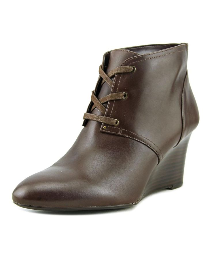 LAUREN RALPH LAUREN | Lauren Ralph Lauren Tamia Women  Pointed Toe Leather Brown Ankle Boot #Shoes #Boots & Booties #LAUREN RALPH LAUREN