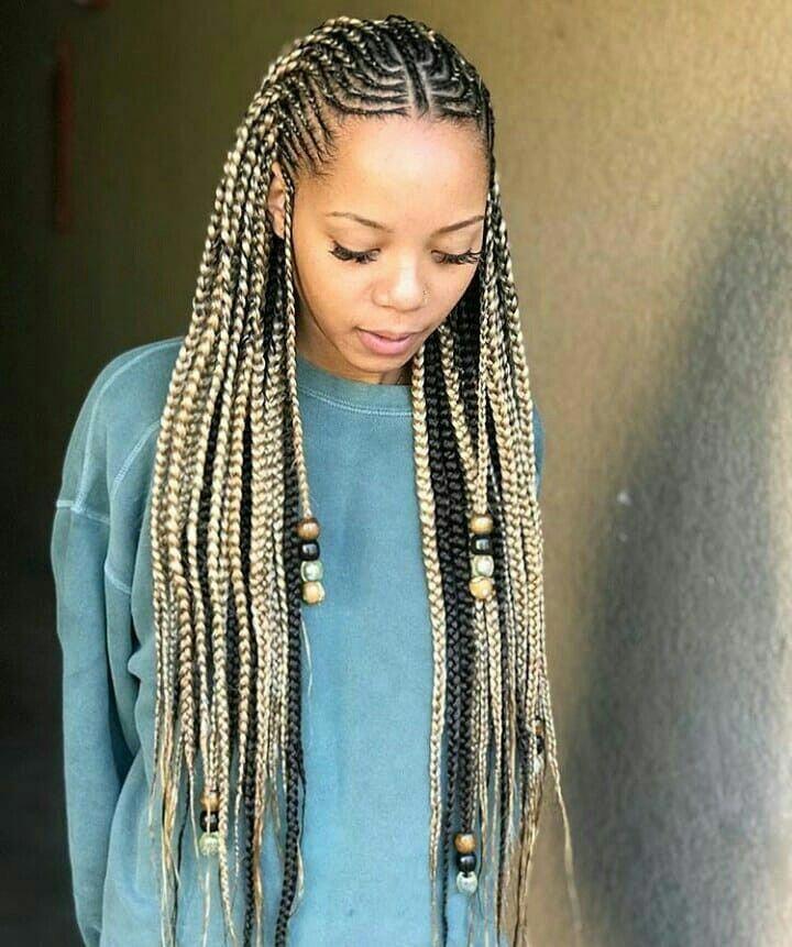 Box Braid Hairstyles White Girl Microbraids African Braids Hairstyles Hair Styles Ghana Braids
