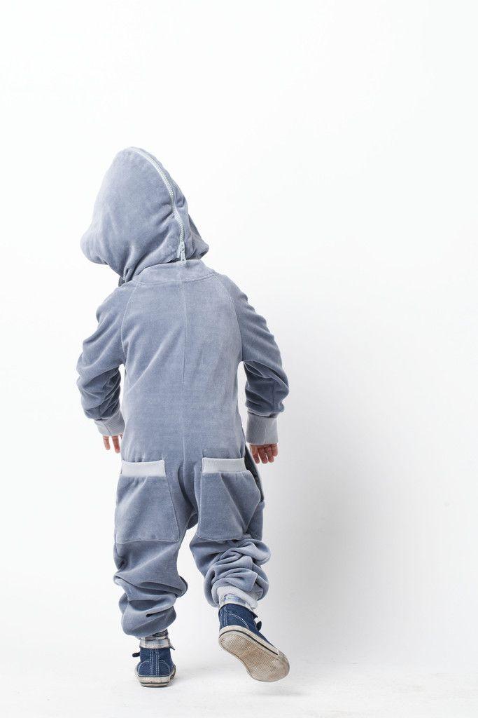 MODI DU boys or girls onesie. Light grey | Diddiu