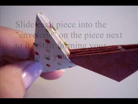 Easy origami wreath video tutorial