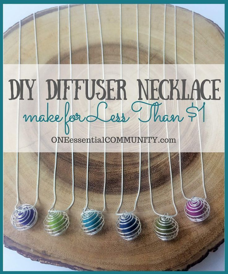 Make your own essential oil diffuser necklace for less than $1 each and in less�