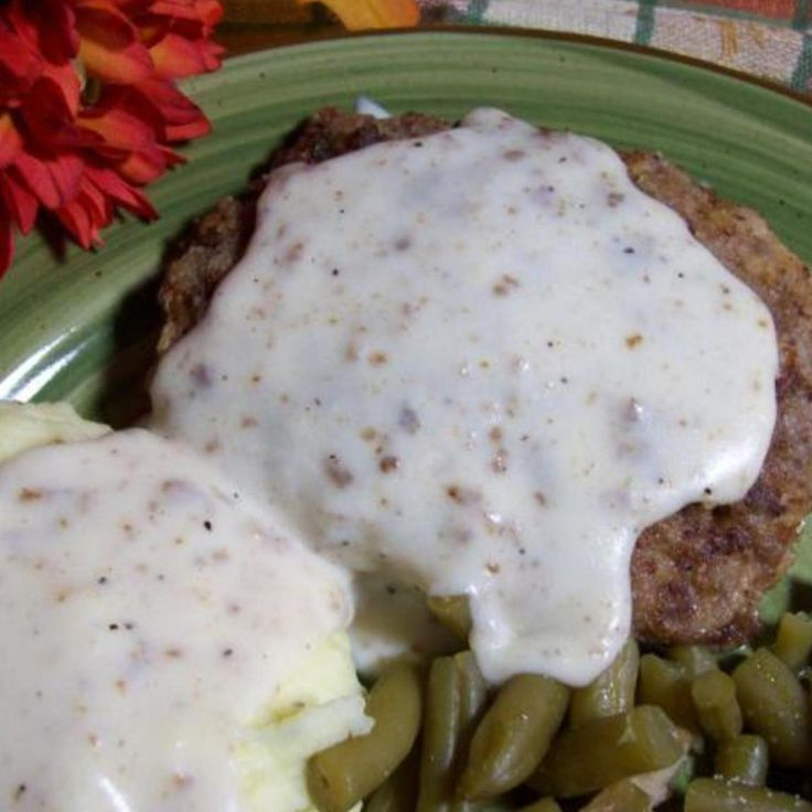 Country Fried Hamburger Steaks With Gravy Recipe | Just A Pinch Recipes