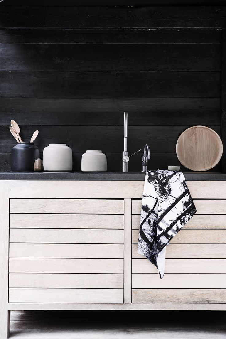 Wood | black kitchen