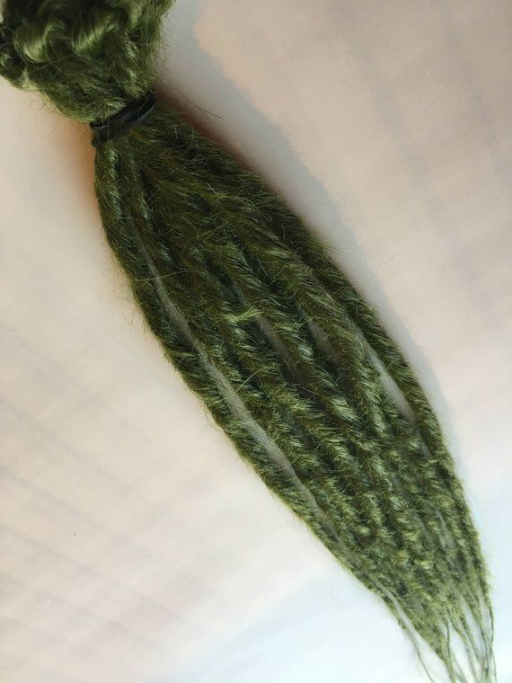 Ready To Ship Olive Army Green Drab Dreads 10 Single Ended Synthetic