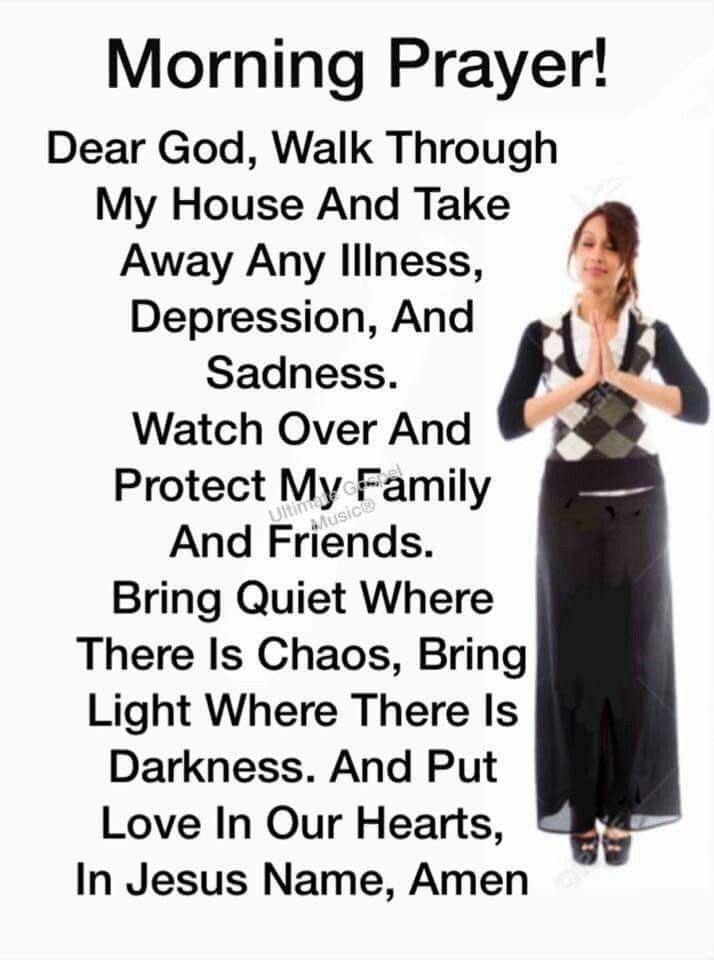 Morning Prayer for when sad or not feeling well