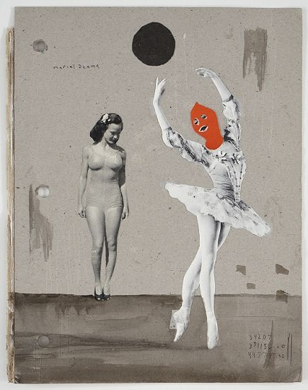 "Marcel Dzama - ""Front cover of untitled scrapbook"", 2007-2009"