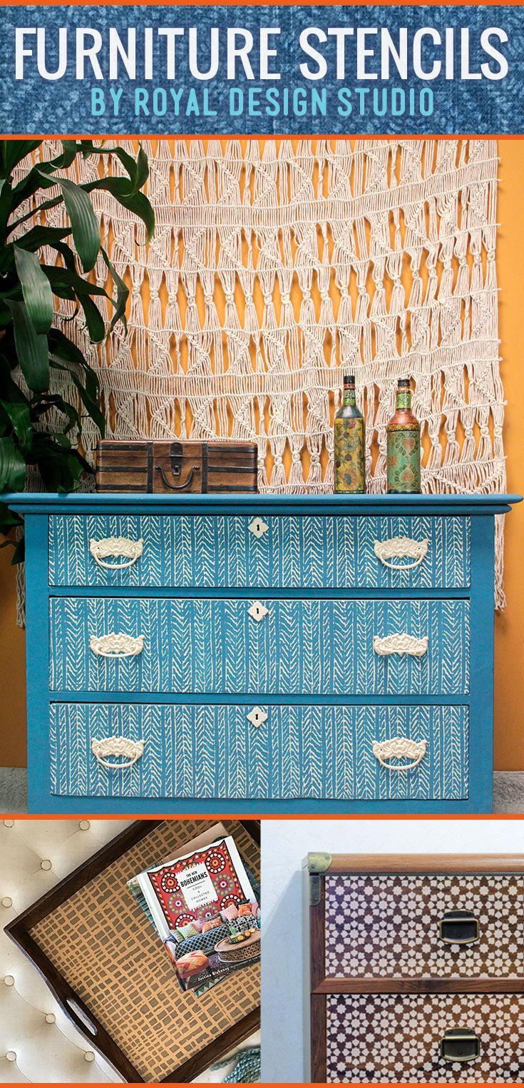 480 best stenciled and painted furniture images on pinterest small furniture stencils for painting and decorating dresser drawers cabinet doors table top diy amipublicfo Gallery
