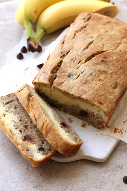 Banana Bread with Cream Cheese Filling Recipe | Drool-Worthy