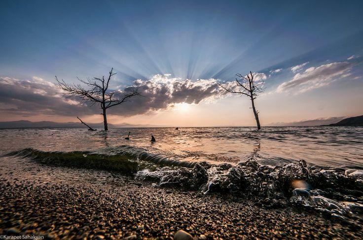 Sunset on the lake Sevan Photo by Karapet Sahakyan -- National Geographic Your Shot