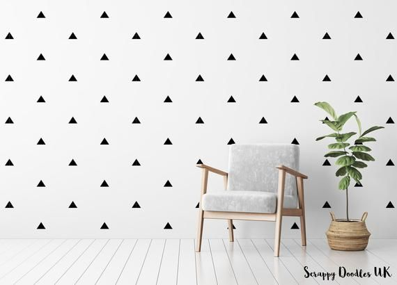 Triangle Wall Decals Modern Room Decor Nursery Wall Stickers