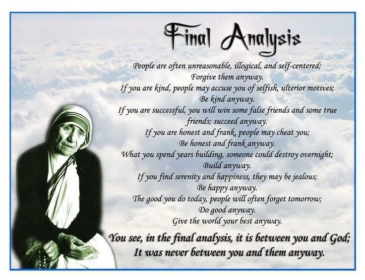 the life and influence of mother teresa Elderly life a awards and achievements b death and legacy the life of mother teresa agnes gonxha bojaxhiu was influence my mother has had on my life.