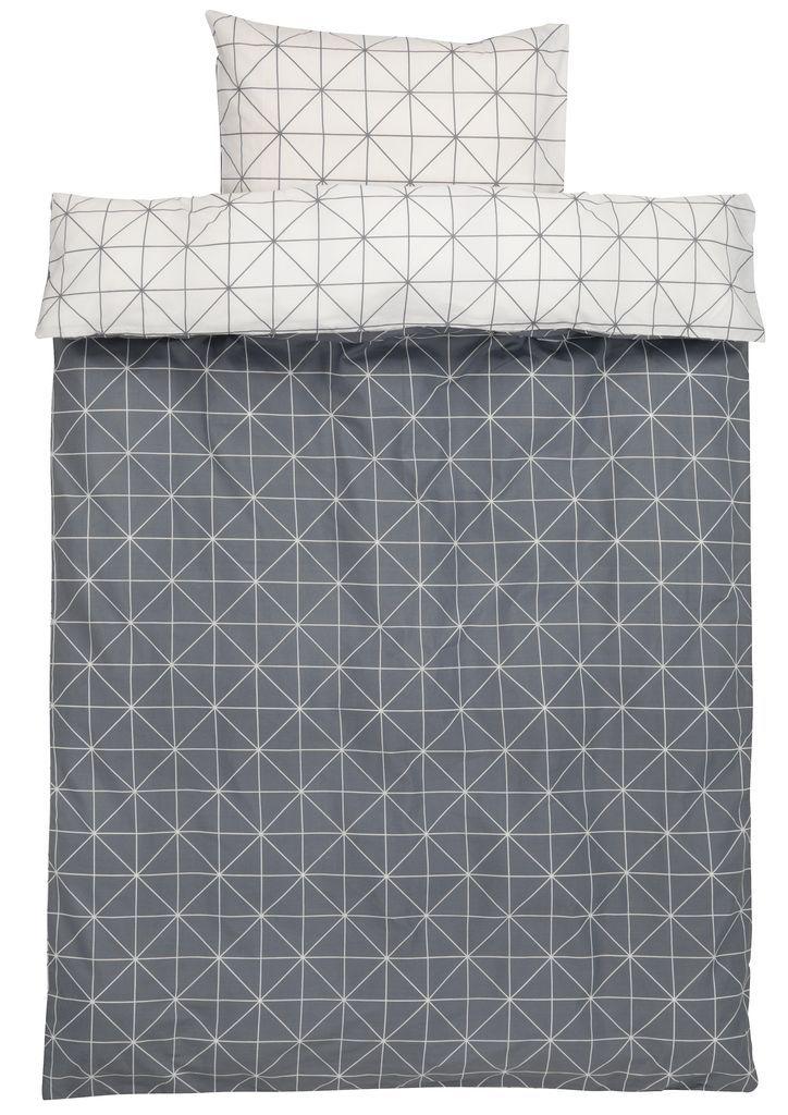 Sengesæt ATLA   JYSK Eller andet sengesæt med grafisk print, enkelt. linned til hovedpude skal bare kunne passe til specialpude 40*60