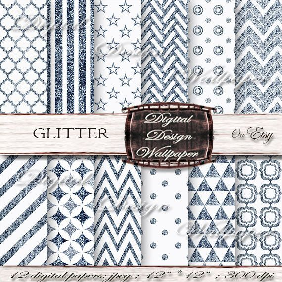 Blue Glitter Digital Paper for digital scrapbook lovers,Glitter Dots,Glitter Chevron,Christmas Glitter Paper,Sparkle Paper by DigitalDesignPaper. Explore more products on:  www.etsy.com/...
